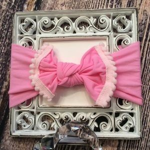 Other - Baby Girls Pink Knot Bow Headband